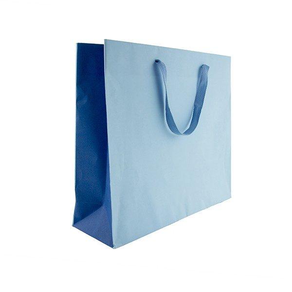 Borse in carta bicolor azzurro - blu