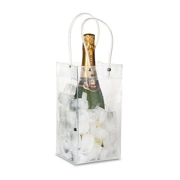 Secchiello borsetta PVC trasparente porta-ghiaccio